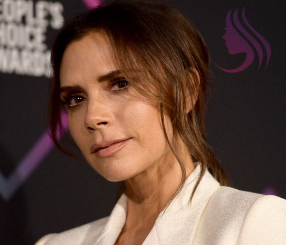 Victoria Beckham having her haircut on the way to the People's Choice Award