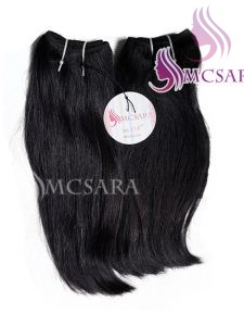 12 INCH WEAVE HAIR EXTENSIONS BLACK