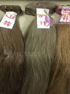 14 inches tape hair extensions brown color