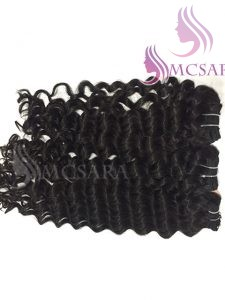 14 INCHES WEAVE WAVY HAIR EXTENSIONS BLACK