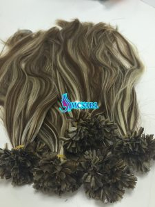 HUMAN HAIR EXTENSIONS V TIP MIXED COLOR 4 AND 60