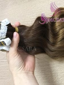 6 inches tape wavy hair extensions
