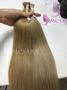 16 inches Bulk Straight Blonde color