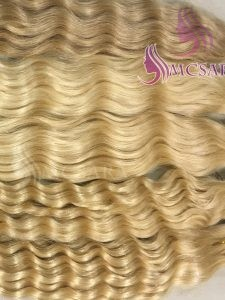8 inches tape hair extensions blonde color