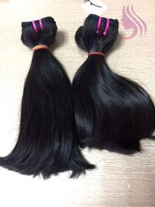 8 INCHES WEAVE STRAIGHT HAIR EXTENSIONS BLACK