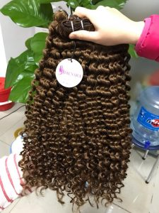 DOUBLE WEFT CURLY VIETNAM REMY HAIR COLOR 5