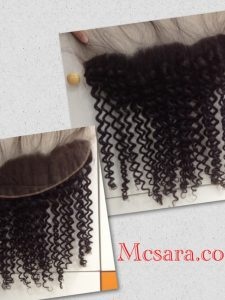 FRONTAL AND CLOSURE LOOSE CURLY HAIR EXTENSION