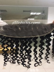 FRONTAL HUMAN HAIR EXTENSIONS DEEP WAVY BLACK COLOR