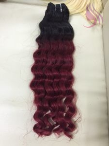 22 INCHES WEAVE WAVY HAIR EXTENSIONS OMBRE