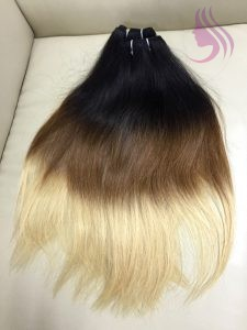 10 INCHES WEAVES STRAIGHT HAIR EXTENSIONS OMBRE