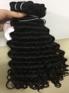 MACHINE WEFT LOOSE CURLY BLACK COLOR