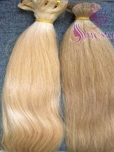 18 inches tape straight hair extensions blonde color