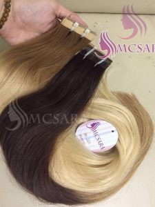 22 inches tape hair extensions brown color