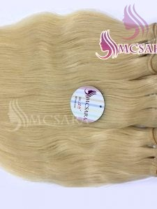 18 INCH WEAVE STRAIGHT HAIR EXTENSIONS BLONDE
