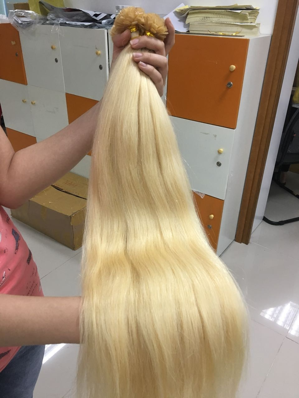 Flat Tips Straight 22 Inches Hair Extensions Color 60