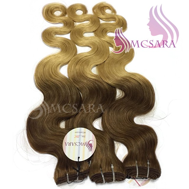 24 INCHES WEAVES WAVY HAIR EXTENSIONS OMBRE